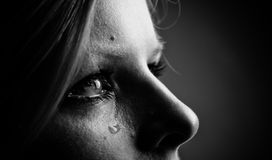 Beauty girl cry. Royalty Free Stock Image