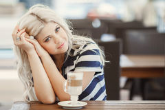 Beauty Girl With Cup of Coffee Royalty Free Stock Images
