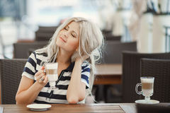 Beauty Girl With Cup of Coffee Royalty Free Stock Photo
