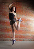 Beauty girl dance stock images