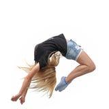 Beauty girl dance Stock Photos