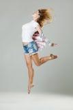 Beauty girl dance Stock Photography