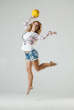 Beauty girl dance Royalty Free Stock Photography