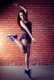 Beauty girl dance stock photo