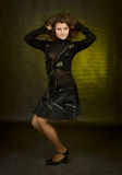 Beauty girl on dark background Royalty Free Stock Photo