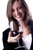 Beauty girl drink wine Stock Photography