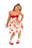 Beauty girl in elegant dress stock images
