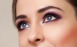 Beauty girl eyes with perfect Stock Photo