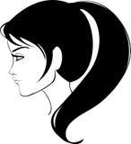 Beauty girl face. Illustration vector illustration