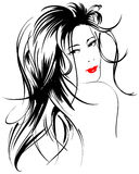 Beauty girl face. Beautiful face of the girl on a white background Royalty Free Stock Photography