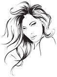Beauty girl face. Beautiful face of the girl on a white background Royalty Free Stock Images