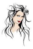 Beauty girl face royalty free illustration
