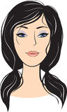 Beauty girl face. design elements Stock Images