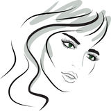 Beauty girl face. design elements. Royalty Free Stock Image