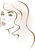 Beauty girl face. design elements. Stock Image