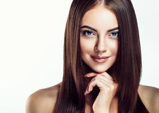 Beauty Girl face Portrait. Beautiful Spa model Woman with Perfec royalty free stock photography