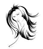 Beauty girl face Stock Photos