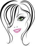 Beauty girl face. Vector illustration  Royalty Free Stock Photography