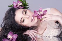 Beautiful Model Woman Face Royalty Free Stock Photography