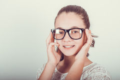 Beauty girl  with glasses Stock Images