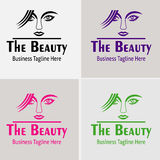 Beauty Girl hair Salon with beautiful Girl Logo Vector silhouette Stock Photo