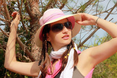 Beauty girl with hat Royalty Free Stock Photo
