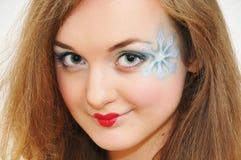 beauty girl heart lips portrait shape Royaltyfri Bild