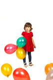 Beauty girl holding balloons Stock Photos