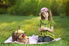 Beauty girl with juce Stock Images