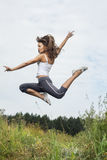 Beauty girl jumping Royalty Free Stock Photos
