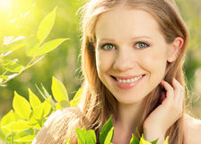 Beauty girl in nature Stock Image