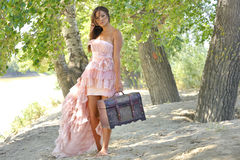 Beauty girl in a old-fashioned dress Royalty Free Stock Photography