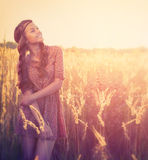 Beauty Girl Outdoor Stock Image
