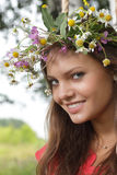 Beauty girl  outdoors Stock Photography