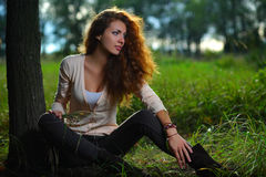 Beauty girl outdoors Royalty Free Stock Photography