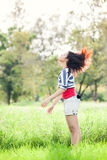 Beauty Girl Outdoors. Shake her hair in park. Beautiful Teenage Model royalty free stock photos