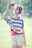 Beauty Girl Outdoors Stock Images