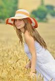 Beauty Girl Outdoors Stock Image