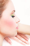 Beauty girl with perfect skin Stock Photography