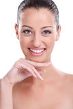 Beauty girl with perfect skin Stock Image