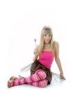 Beauty girl portrait royalty free stock photography