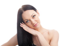 Beauty Girl. Portrait of Beautiful Young Woman Royalty Free Stock Images