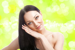 Beauty Girl. Portrait of Beautiful Young Woman Royalty Free Stock Photography