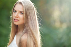 Beauty Girl. Portrait Of Beautiful Young Woman Looking At You. O Royalty Free Stock Photos