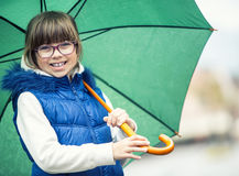 Beauty girl in rain Stock Photo