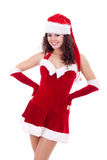 Beauty girl in santa costume Stock Photos