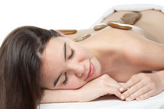 Beauty girl spa. On white background Royalty Free Stock Photo