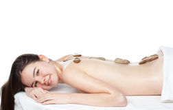 Beauty girl spa. On white background Stock Images