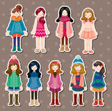 Beauty girl stickers Stock Photo