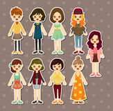 Beauty girl stickers Stock Image